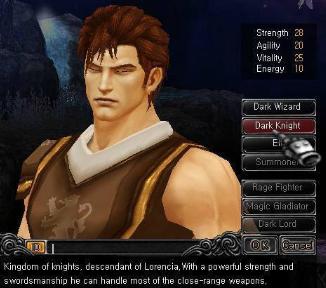 Hướng dẫn tạo nhân vật Chiến Binh game Mu Online