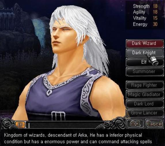 Hướng dẫn tạo nhân vật Phù Thuỷ (Dark Wizard) game Mu Online