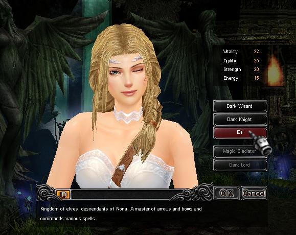 Hướng dẫn tạo nhân vật Tiên Nữ (Fairy Elf) game Mu Online
