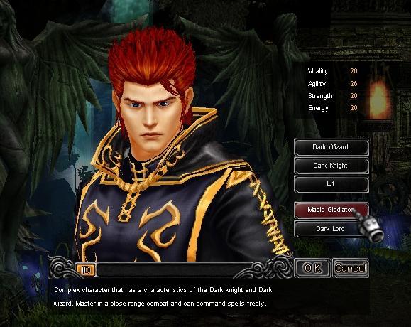 Hướng dẫn tạo nhân vật Đấu Sĩ (Magic Gladiator) game Mu Online