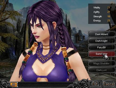 Hướng dẫn tạo nhân vật Thuật Sĩ (Summoner) game Mu Online