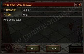 Gửi thư trong game Mu Online Season 12