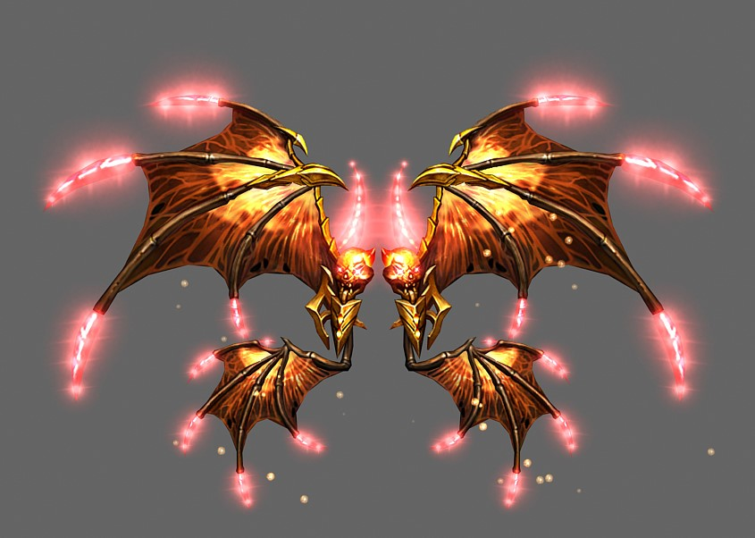 Wing of Flame God Mu Online