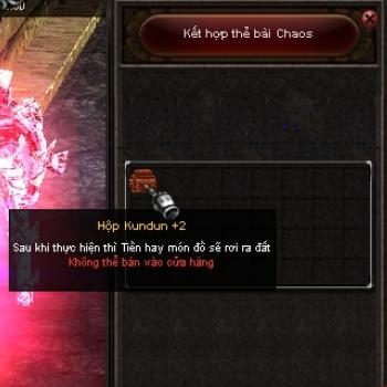 Cửa sổ kết hợp thẻ bài Chaos game Mu Online