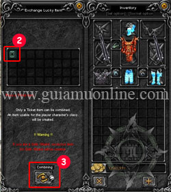 Lucky Ticket to create the acient items 2 Mu online