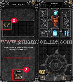 Refine lucky items 1 Mu online
