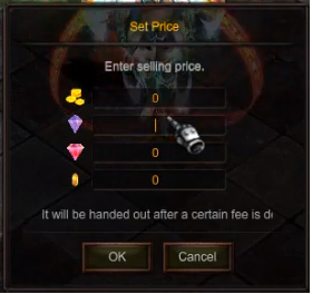 Set giá trong cửa hàng cá nhân game Mu Online