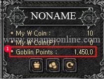 Goblin Points (GP) in MU online